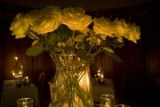 Cena Lume di candela 12 rose bianche